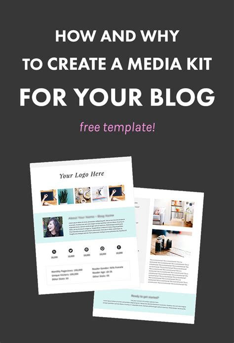 media kit template free how and why to create a media kit for your free