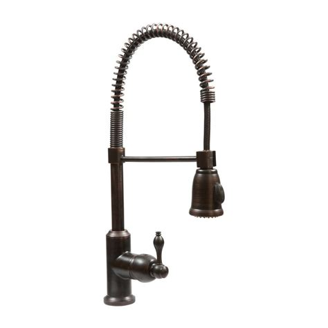 Shop Premier Copper Products Oil Rubbed Bronze 1 Handle Deck Mount Pull Down Kitchen Faucet at