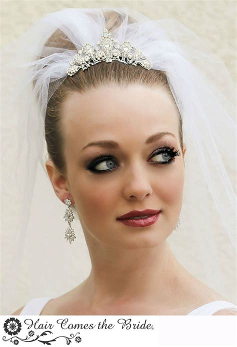 Wedding Hair With Fringe And Veil by Bridal Hairstyle With Tiara And Veil Fade Haircut