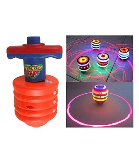 Top Spinning Light Show 1 slick laser spinning top with led light and laser