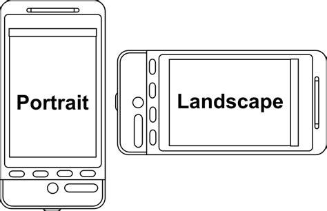 layout for landscape and portrait android clipart portrait v landscape device orientation