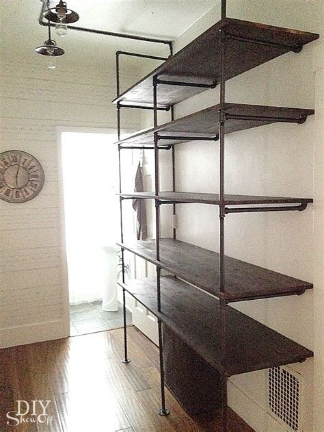 Diy Show Off Pipes Industrial And Tutorials Industrial Pipe Shelves