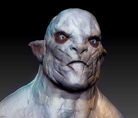 azog in the hobbit my friend went to see the hobbit came home and 3d sculpted