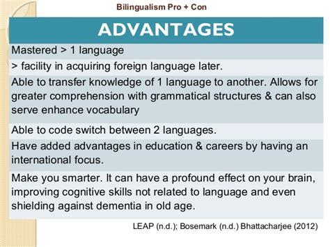 thesis statement about bilingual education bilingual education essay