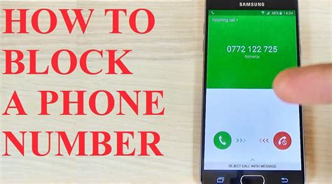 how to block a phone number on an android samsung galaxy a3 a5 a7 2016 how to block a phone number call contact