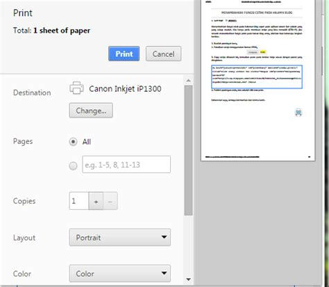 fungsi layout script menambahkan fungsi cetak pada halaman blog syamadav