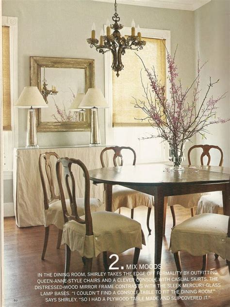 dining room chairs slipcovers slip skirts ls buffet dining spaces pinterest