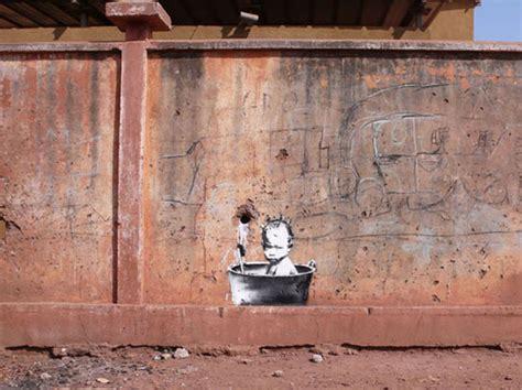Banksy Bathroom 80 Beautiful Crimes Done By Banksy Bored Panda