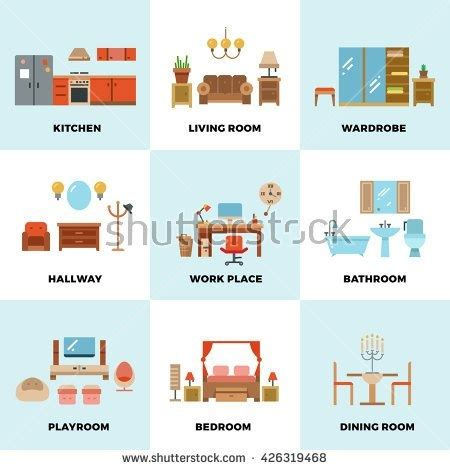 types of rooms in a house parts of the house kitchen clipart clipartsgram