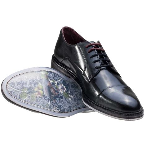 ted baker aokii toe cap derby mens shoes in black