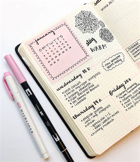 design inspiration agenda studyinginstyle my bullet journal spread from last week