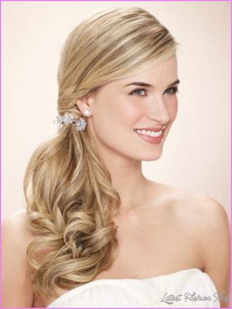 Side Hairstyles For by Prom Hairstyles Side Ponytail Latestfashiontips
