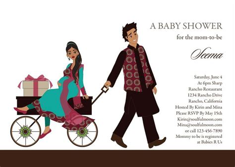 baby shower invitations indian wagon indian baby shower invitations by