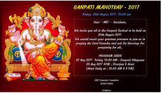 free ganesh chaturthi invitation card invitations