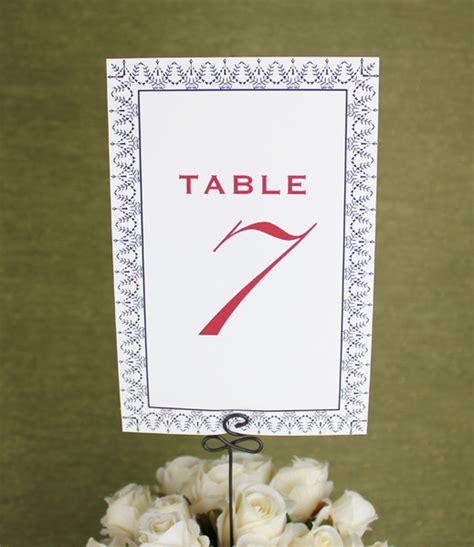 printable table numbers designs printable table number cards vintage design download