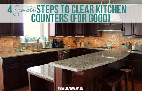 organize kitchen counter 4 simple steps to clear kitchen counters for good