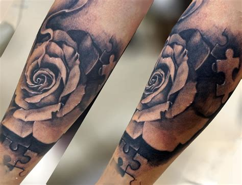 girl rose tattoos puzzle tatts by george muecke tattoos