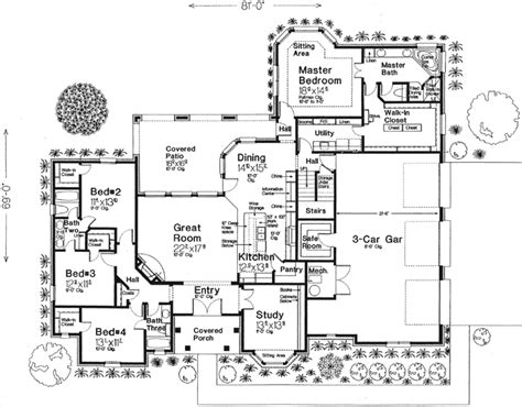 monster house floor plans english country style house plans 2838 square foot home