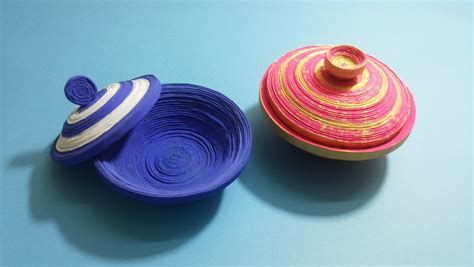 How To Make A Paper Bowl - how to make coiled paper bowl funnydog tv