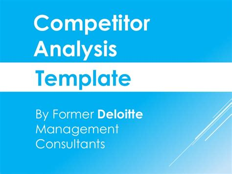 competitor analysis sle report competitive analysis report template project management