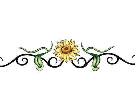 sunflower tribal tattoos sunflower clipart vine pencil and in color sunflower