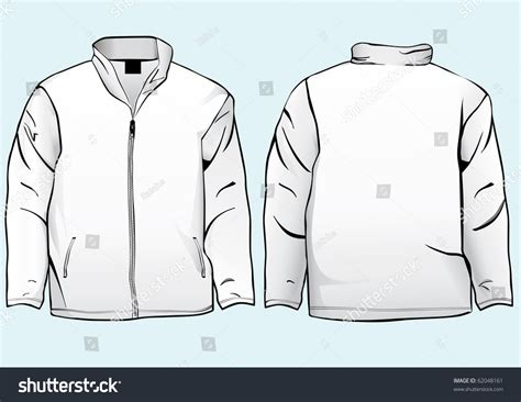 Jaket Oor jacket sweatshirt template zipper stock vector 62048161