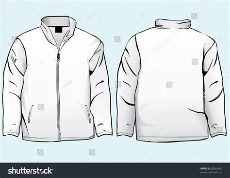 Jacket Sweatshirt Template Zipper Stock Vector 62048161 ... Fashion Illustration Templates Men
