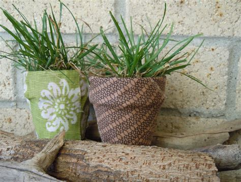 how to decoupage with fabric how to decoupage terracota pots and a glass vase with fabric