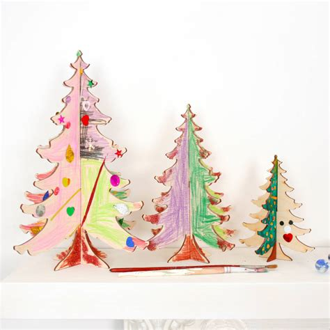 craft diy christmas tree table decorations by bombus