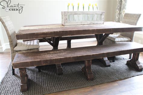 Diy Dining Room Table With Bench Diy Benches For My Dining Table Shanty 2 Chic