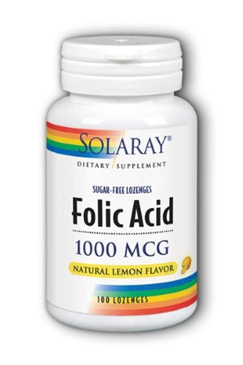 Mcg For Methhet Detox Of Folate Supplements by Solaray Folic Acid Lemon 1000 Mcg 100 Lozenges