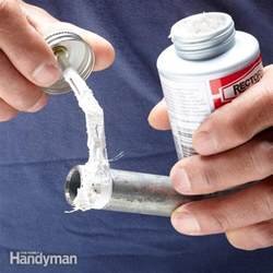 prevent leaks with pipe dope the family handyman