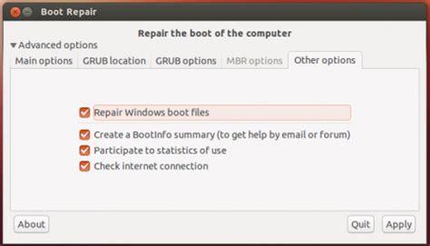 tutorial grub linux tutorial repair grub using tool boot repair tutorial