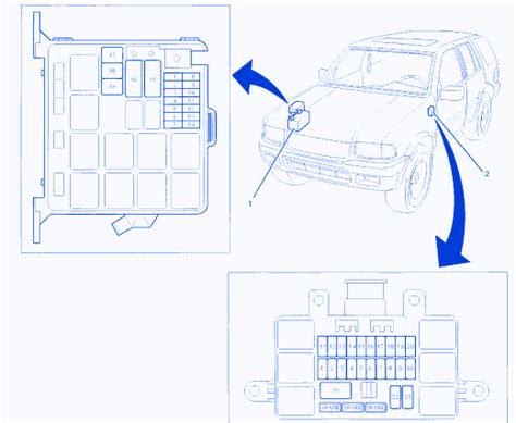 Isuzu Rodeo Ls 2000 Engine Fuse Box Block Circuit Breaker