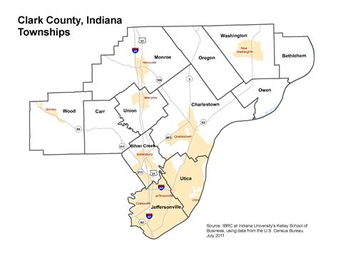 Search My County Indiana Clark County Indiana Township Map Indiana Map