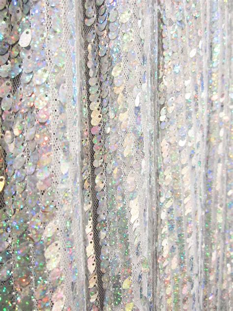 sequin curtain panel gc211l 1 panel silver 5mm x 9mm sequin shiny fabric made