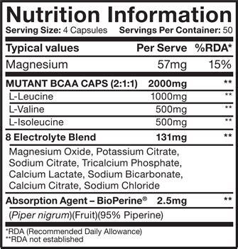 Bcaa Mutan Ecer 200 Caps mutant bcaa caps free bonus mutant cup lid mutant pro100 protein trial www