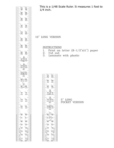printable scale rulers free printable scale ruler