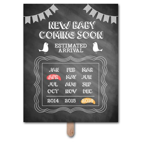 Pregnancy Announcement Template For Coming Soon Pregnancy Announcement Photo Prop Template