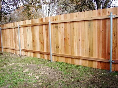 remove outdoor l post wood privacy fence on steel posts cedar yelp