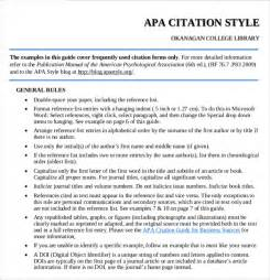 citation template apa style template