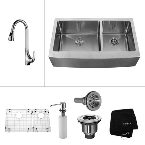 extra deep farmhouse sink kraus all in one farmhouse apron front stainless steel 33