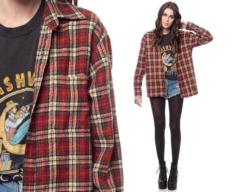 Trend Alert Lumberjack Grunge by Etsy 90s Plaid Shirt Fashion And Style