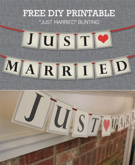 just married bunting template free just married bunting free printable wedding