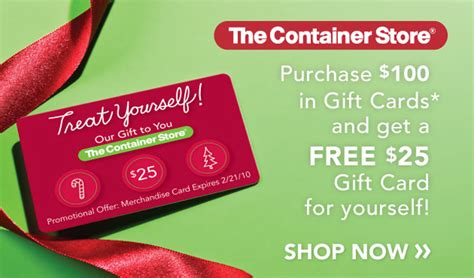 the container store s holiday gift card promotion