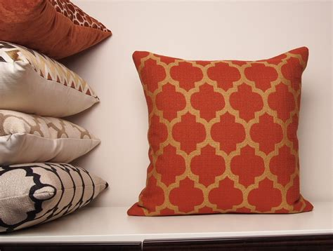 burnt orange sofa pillows copper pillow cover orange pillow burnt orange pillow fall