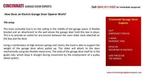 how does garage door opener work how does an electric garage door opener work