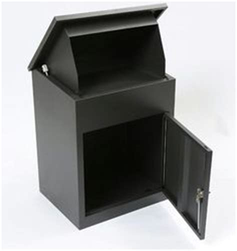 Theft Proof Letter Boxes Parcel Drop Box With Rear Retrieval Black Mail Box Idea