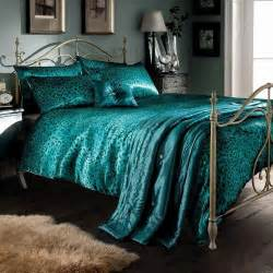 Black And Teal Duvet Cover Teal Leopard Print Satin King Duvet Cover Bedspread