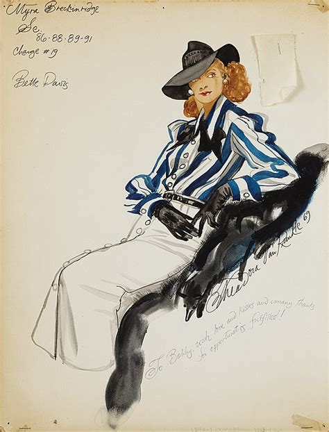 theadora runkle theodora runkle costume sketch of bette davis for myra b